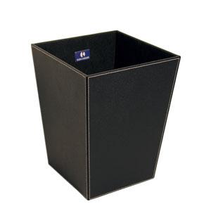 Ecopelle 2603 Black Waste Basket