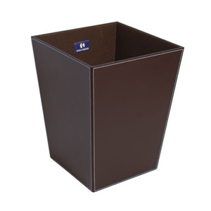 Ecopelle 2603 Dark Brown Waste Basket