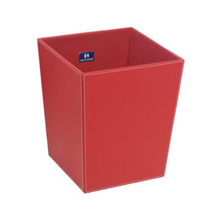 Ecopelle 2603 Red Waste Basket