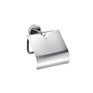 Gealuna Toilet Paper Holder with Lid in Polished Chrome