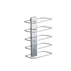 Hotellerie Wall Mounted Towel Rack in Polished Chrome