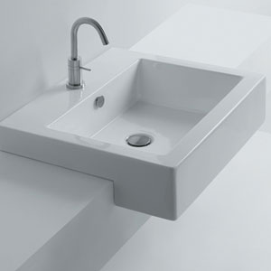 Hox Semi-Recessed Bathroom Sink