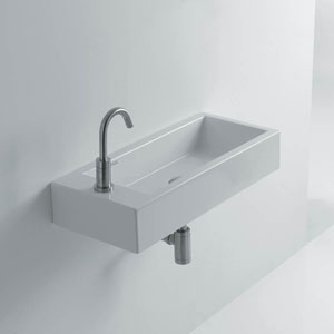 Hox 20-inch Ceramic Wall Mounted Bathroom Sink