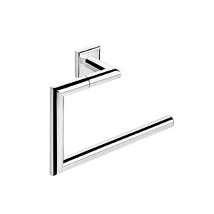 Kubic Class Polished Chrome Bathroom Towel Holder