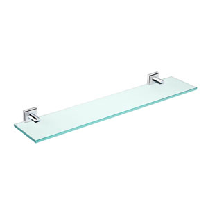 Kubic Class Polished Chrome Bathroom Shelf