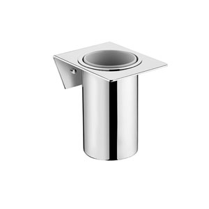 Kubic Cool Polished Chrome Bathroom Toilet Brush Holder