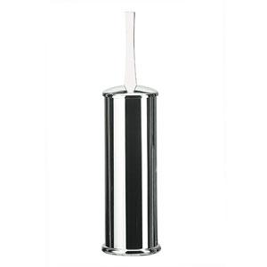 Koko 5050 Chrome Toilet Brush Holder w/ White Handle