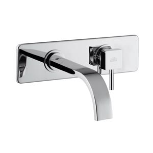 Fonte Level Polished Chrome Concealed Single Hole Bath Faucet with Rectangular Spout