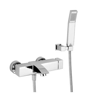Fonte Level Polished Chrome Bath and Shower Faucet
