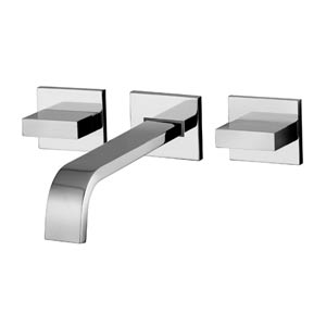 Fonte Polished Chrome Concealed Wall Mounted Widespread Bath Faucet