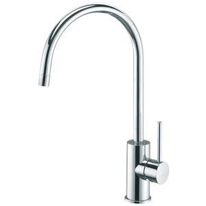 Fonte Light Polished Chrome Round Spout Kitchen Sink Faucet