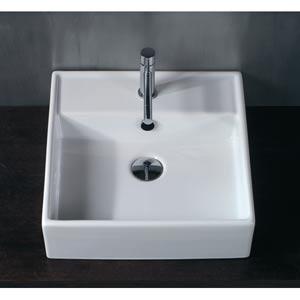 Ceramica White 18-Inch Vessel Sink