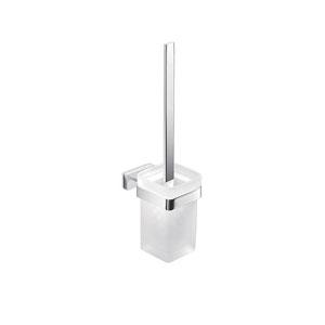 Lea Wall Mount Glass Toilet Brush Holder
