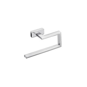 Lea Towel Ring in Polished Chrome