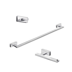 Lea Bathroom Accessory Set in Polished Chrome