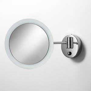 Mevedo Polished Chrome LED Wall-Mounted Magnifying Mirror