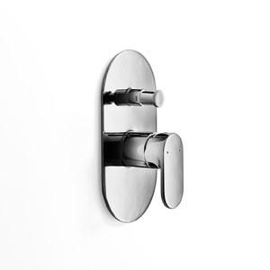Muci Polished Chrome Shower Faucet