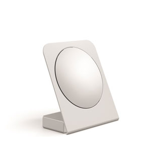 Mevedo Magnifying Table Mirror with Container in White