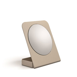 Mevedo Magnifying Table Mirror with Container in Sandquartz