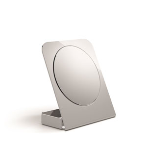 Mevedo Magnifying Table Mirror with Container in Stainless Steel