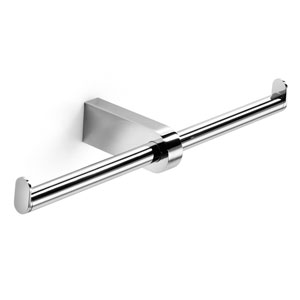 Muci Polished Chrome Double Toilet Paper Holder