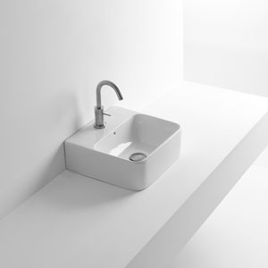 Net 45 Wall Mounted / Vessel Bathroom Sink