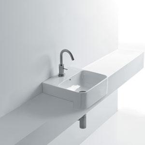 Semi-recessed Bathroom Sink