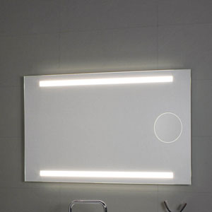 Okkio Lighted LED Wall Mirror with 2x Magnifying Mirror