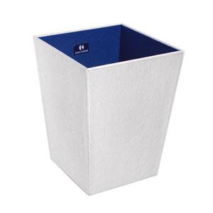 Perle 2503 White Waste Basket