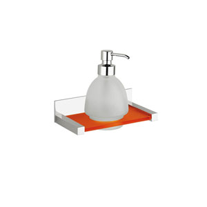 Quadra Wall Mounted Soap Dispenser in Polished Chrome