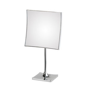 Discolo Polished Chrome Square Free Standing Magnifying Makeup Mirror