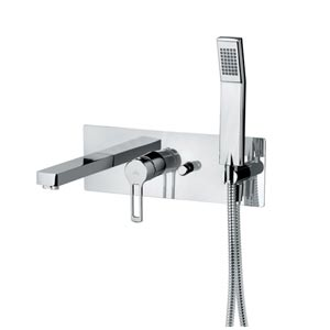 Fonte Ringo Polished Chrome Concealed Bath and Shower Faucet