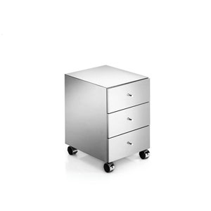 Linea Polished Stainless Steel Bathroom Vanity