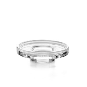 Saon Polished Chrome and Clear Glass Bathroom Soap Dish