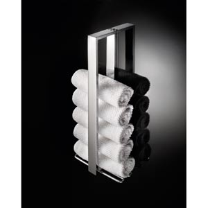 Skuara Polished Chrome Vertical Wash Cloth Holder