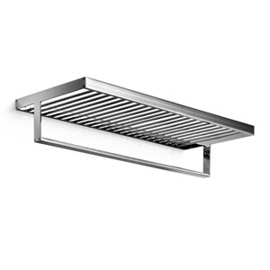 Skuara Polished Chrome 24 x 10 Towel Shelf with Bar