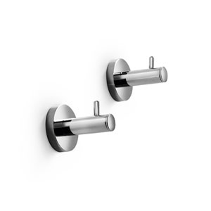 Spritz Polished Chrome Bathroom Hooks