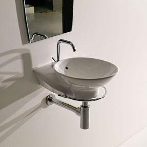 Kerasan White Bathroom Wall Hung Sink
