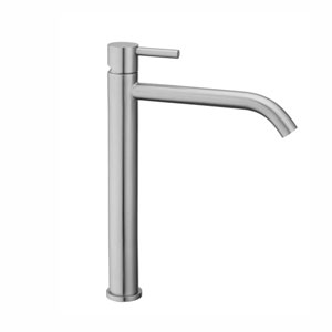 Steel Single Lever Faucet in Stainless Steel