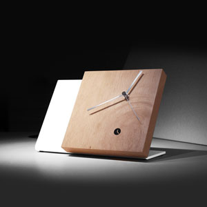 Tact Mixte White/Rustic Table Clock
