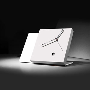Tact Mixte White/White Table Clock