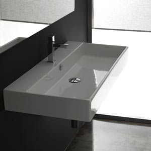 Unlimited 100 White Wall Mount or Countertop Bathroom Sink