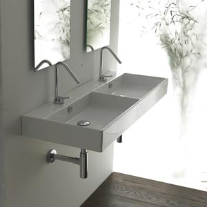 Unlimited 120 White Wall Mount or Countertop Bathroom Sink