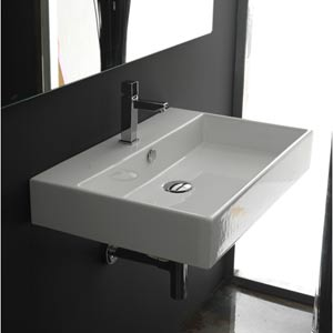 Ws Bath Collections Unlimited 60 White Wall Mount Or