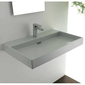 Urban 70 White Wall Mount or Countertop Bathroom Sink
