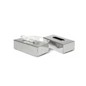Upside Tissue Box Cover in Polished Chrome