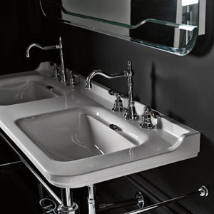 Waldorf Wall Mounted Bathroom Sink In Ceramic White