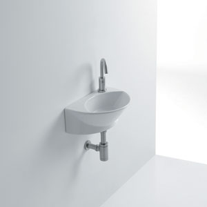 Zepto Wall Mounted Bathroom Sink
