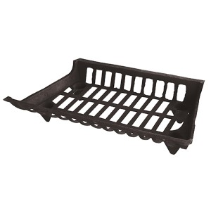 Black 24-Inch Wide Cast Iron Grate
