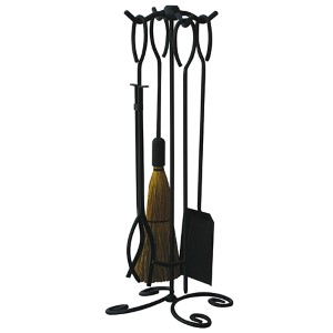 Black 28-Inch High Five-Piece Fireset
